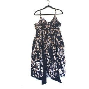[SIMPLYVERAWANG] V-neck floral sleeve less dress